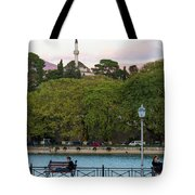 Pleasant Afternoon By Lake Pamvotis In Ioannina Tote Bag