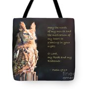 Pleasing In Your Sight - Psalm 19 Tote Bag