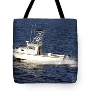 Pleasure Fishing Boat Tote Bag