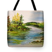 Plein Air At Grand Beach Lagoon Tote Bag