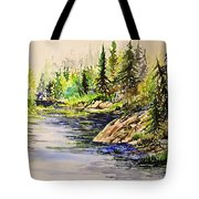 Plein Air At Nutimik Lake In Manitoba Tote Bag