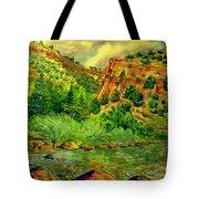 Plein  Air Of Eagle River Tote Bag