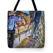 Plein Air Painters - Original Watercolor Tote Bag