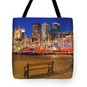 Plein Square At Night - The Hague Tote Bag