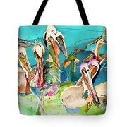 Plethora Of Pelicans Tote Bag