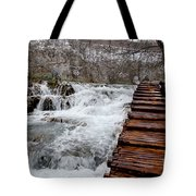 Plitvice Lakes Boardwalk Tote Bag