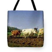 Ploughing In Nivernais Tote Bag