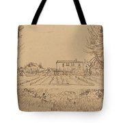 Ploughman In The Fields Near Arles 1888 Tote Bag