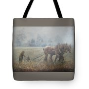 Plowing It The Old Way Tote Bag
