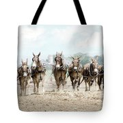 Plowing The Fields Tote Bag