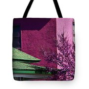 Plum Abstract Tote Bag
