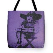 Plum Cowgirl Tote Bag