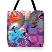Plum Dance Tote Bag