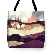 Plum Fields Tote Bag