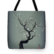 Plum Flower Tote Bag by GuoJun Pan
