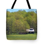 Plum Hollow Sugar Shack In Spring Tote Bag