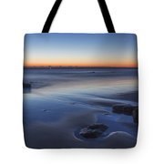 Plum Island Blue And Red Dawn Tote Bag