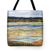 Plum Island Salt Marsh Tote Bag