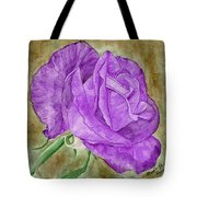 Plum Passion Rose Tote Bag