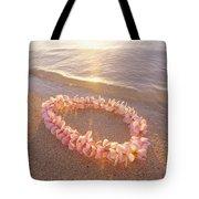 Plumeria Lei Shoreline Tote Bag