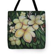 Plumeria Tote Bag by Lynn Buettner