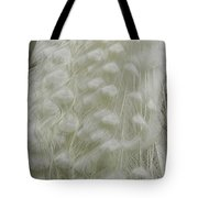 Plumey White Tote Bag