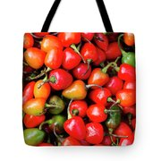 Plump Red Peppers Photo Stock Tote Bag