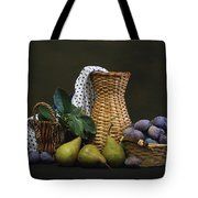 Plums And Pears Tote Bag