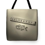 Plymouth Belvedere Gtx Fender Emblem Badge Tote Bag