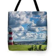 Plymouth Hoe And Smeatons Tower Tote Bag