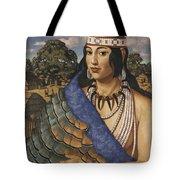Pocahontas Wears A Turkey-feather Robe Tote Bag