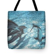 Pod Of Dolphins Tote Bag