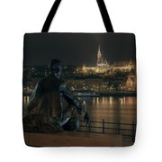 Poet On The Danube Tote Bag