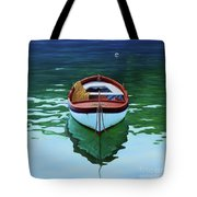 Coastal Wall Art, Poetic Light, Fishing Boat Paintings Tote Bag