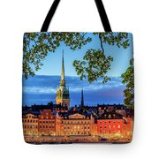Poetic Stockholm Blue Hour Tote Bag