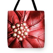 Poinsettia Abstract Tote Bag