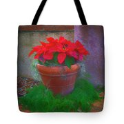 Poinsettia Pot Tote Bag