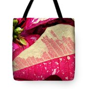 Poinsettias -  Painted And Speckled Up Close Tote Bag