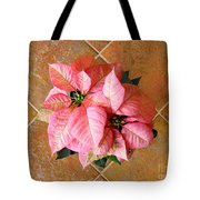 Poinsettias -  Pinks On Tile Too Tote Bag