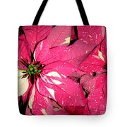 Poinsettias -  Red And White Speckled Tote Bag