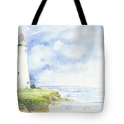 Point Aux Barques Lighthouse Tote Bag