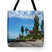 Point Betsie Light Tote Bag