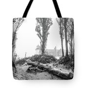 Point Betsie Lighthouse In Fog Tote Bag