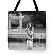 Point Clear Alabama Brown Pelican - Bw Tote Bag