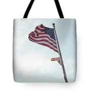 Point No Point American Flag Tote Bag