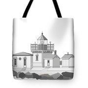 Point No Point As Architectural Drawing Tote Bag