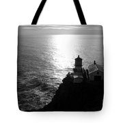 Point Reyes Lighthouse - Black And White Tote Bag