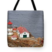 Point Reyes Lighthouse Ca Tote Bag by Christine Till
