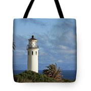 Point Vicente Lighthouse On The Cliffs Of Palos Verdes California Tote Bag