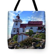 Pointe Au Baril Lighthouse Tote Bag